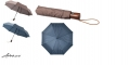 21`` 3-Section double layer auto open/close umbrella BROWN /NAVY